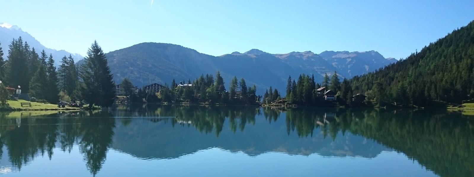 Champex-lac en été
