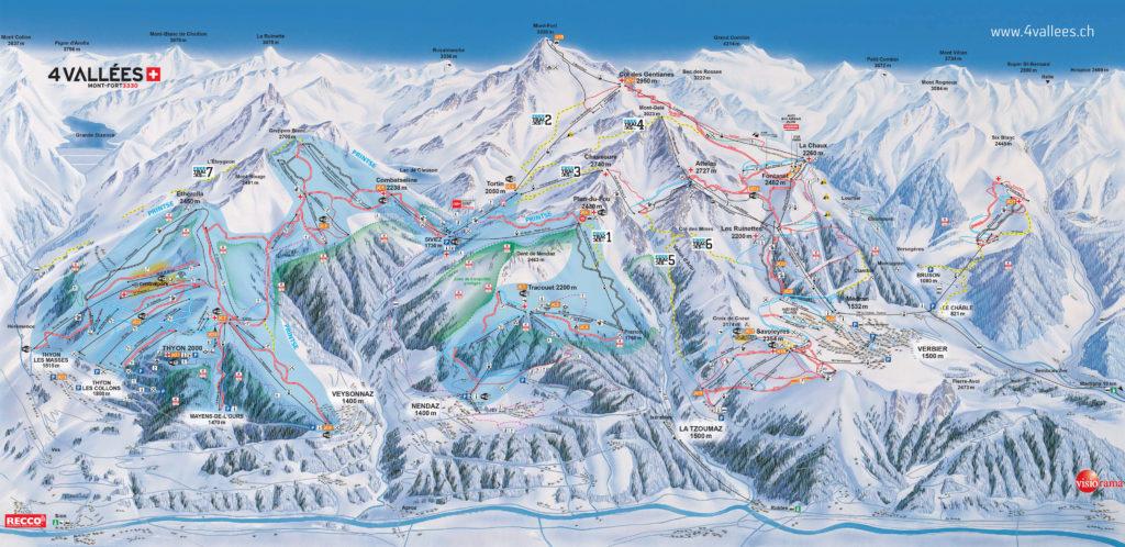 Le domaine skiable de Nendaz